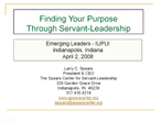 Finding your Purpose Through Servant Leadership